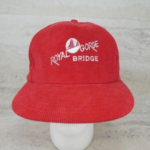 Vintage Royal Gorge Bridge Corduroy Snapback Hat